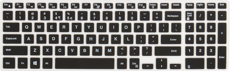 Neon Keyboard Skin for Dell Inspiron (3543), (3552), (3558), (3567), (3568), (5558), (5559), (7559), Laptop (Black)