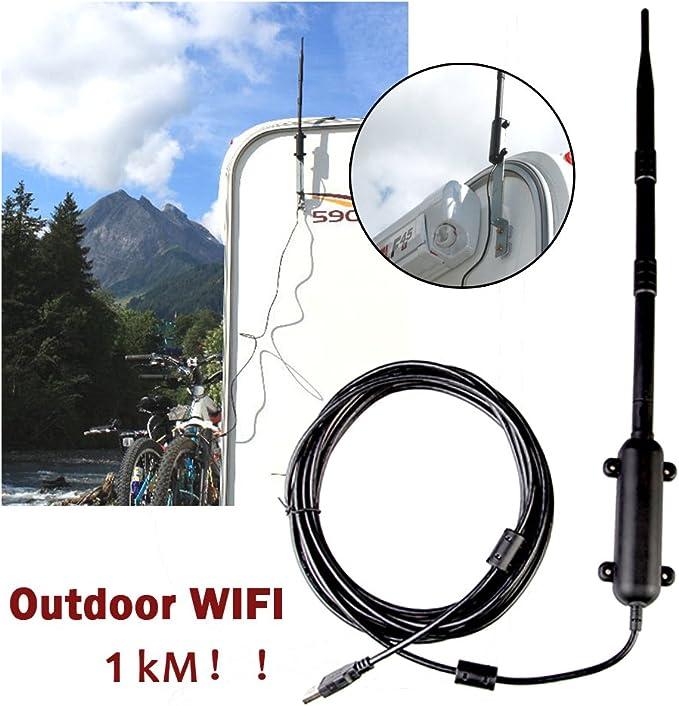 Jtron High Power - Extensor de WiFi para Exteriores, 1000 m ...