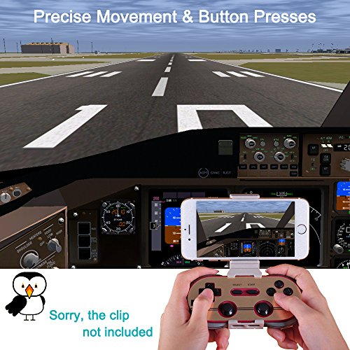 ElementDigital 8Bitdo F30 Pro Wireless Bluetooth Controller GamePad Retro Styled for PCs /Android & iOS Phones /MacOS /Playsation 3 PS3 /Wii-U /Wii /RetroN5 Switch Gamepad by ElementDigital (Image #6)
