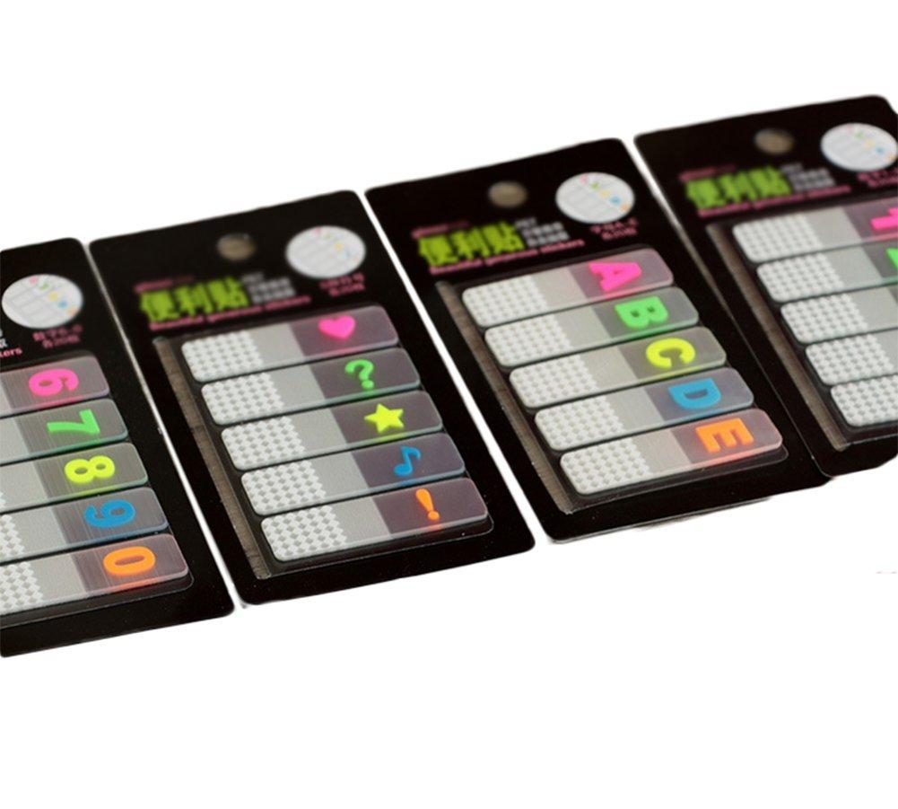 Oyfel Notes Memo adesive autoadesive bloc-notes segnalibri Lettera Numero Simbolo 2PCS