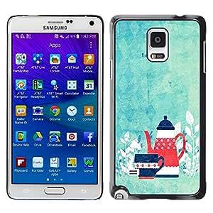 Dragon Case - FOR Samsung Galaxy Note 4 - tea time - Caja protectora de pl??stico duro de la cubierta Dise?¡Ào Slim Fit