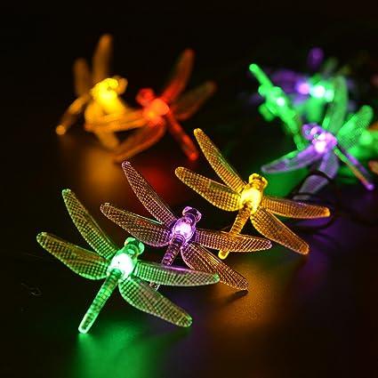 Merveilleux LEVIITEC Outdoor Solar Garden Lights, 30 LED Dragonfly Christmas Lights  With Light Sensor, 8