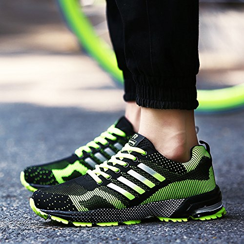 Jogging Fluorescent Fashion Women's Casual Sports Running Green 1 Ausom Sneskers Men's Lovers Shoes Walking Outdoor qS7y8