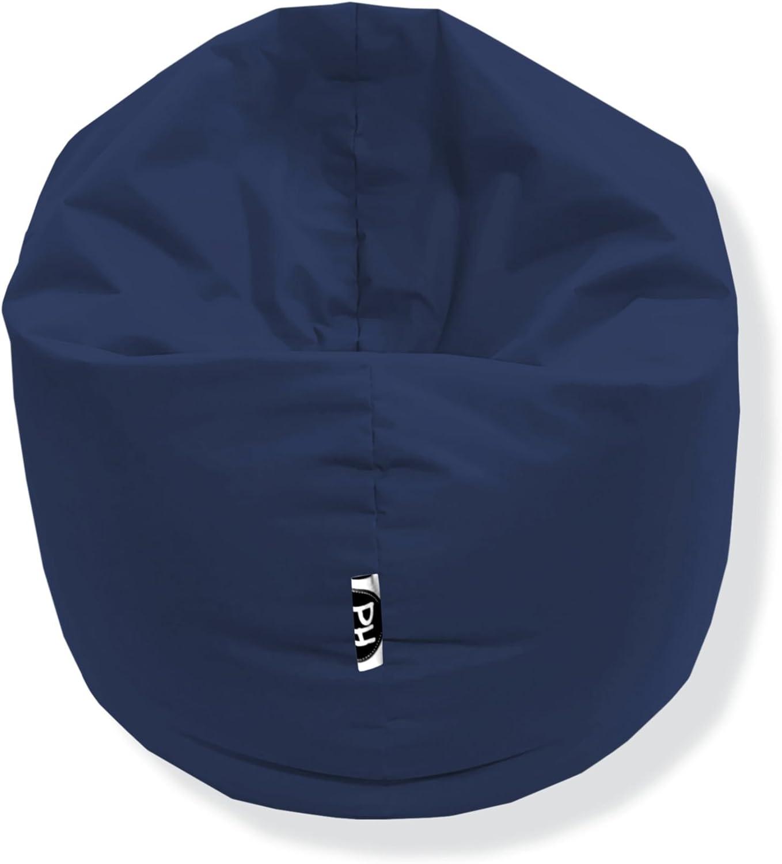 Marine fertig bef/üllt Gr/ö/ßen Patchhome 2 in 1 Funktion Sitzsack Sitzkissen Bean Bag 145cm Durchmesser in 25 Farben und 3 versch