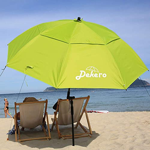 Dekero Large Windproof Beach Umbrella,UV Protection Portable Umbrella