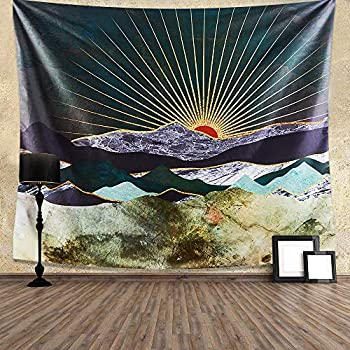 INTHouse Mountain Tapestry Wall Hanging Nature Tapestry Landscape Tapestry Sunset Tapestry Wall Decor for Bedroom College Dorm Room