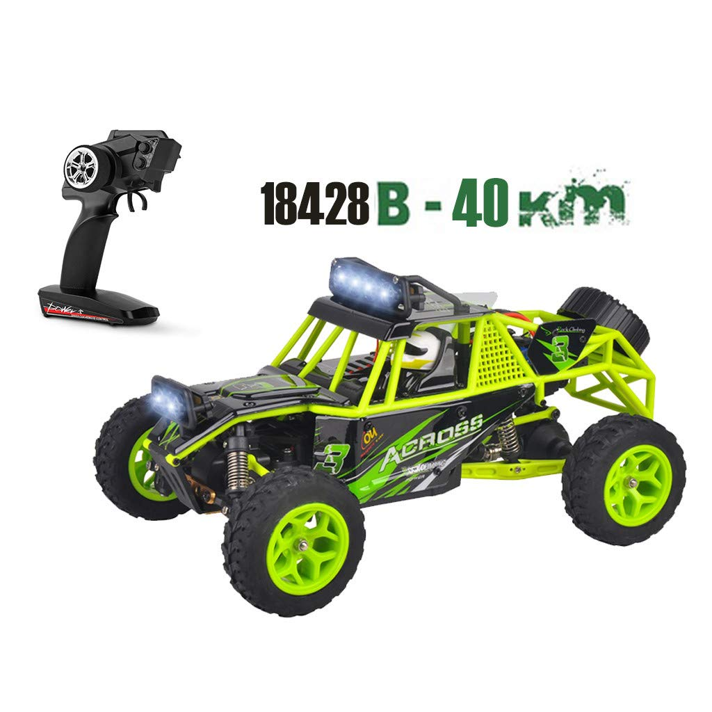 Childrens Day Upgraded 540 Brush Motor High Speed 40km/h 1:18 4D 2.4G RC Car Remote Controll Electric Mode Car Kids Gift (Green) by Aurorax Electric (Image #2)