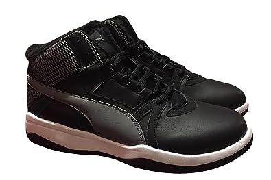 4e658b5f688 PUMA Mens Rebound Street EVO Fur Black Mid Basketball Walking Sneaker Shoes  (9)