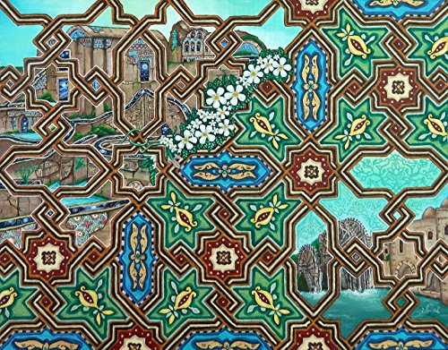 Islamic art oil painting architecture arabesque by