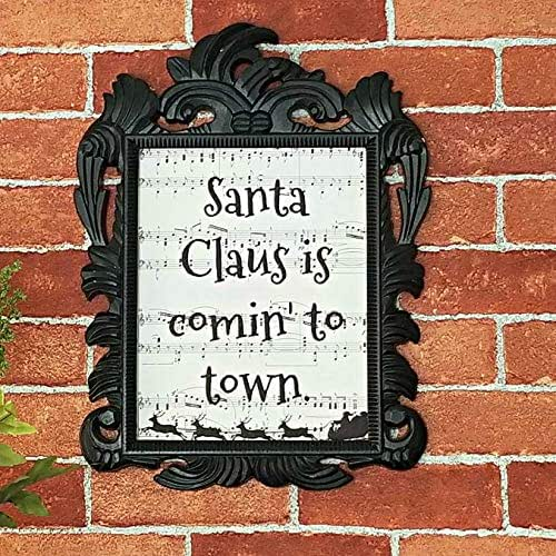 """Amazon.com: Christmas Song Lyric""""Santa Claus is Comin' to Town"""" Sheet Music Print, Unframed ..."""