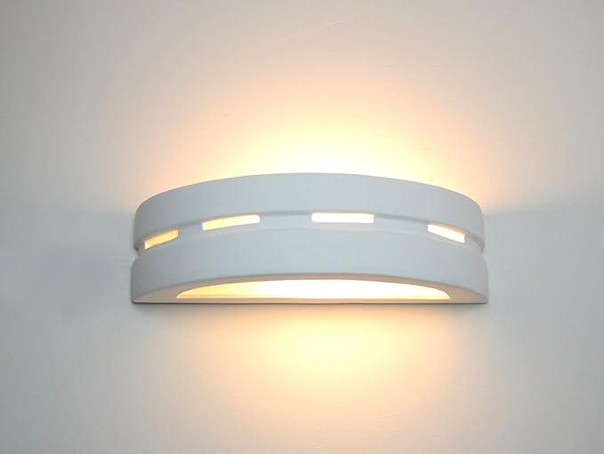 Ceramica lampada da parete lampada da parete led omega bianco