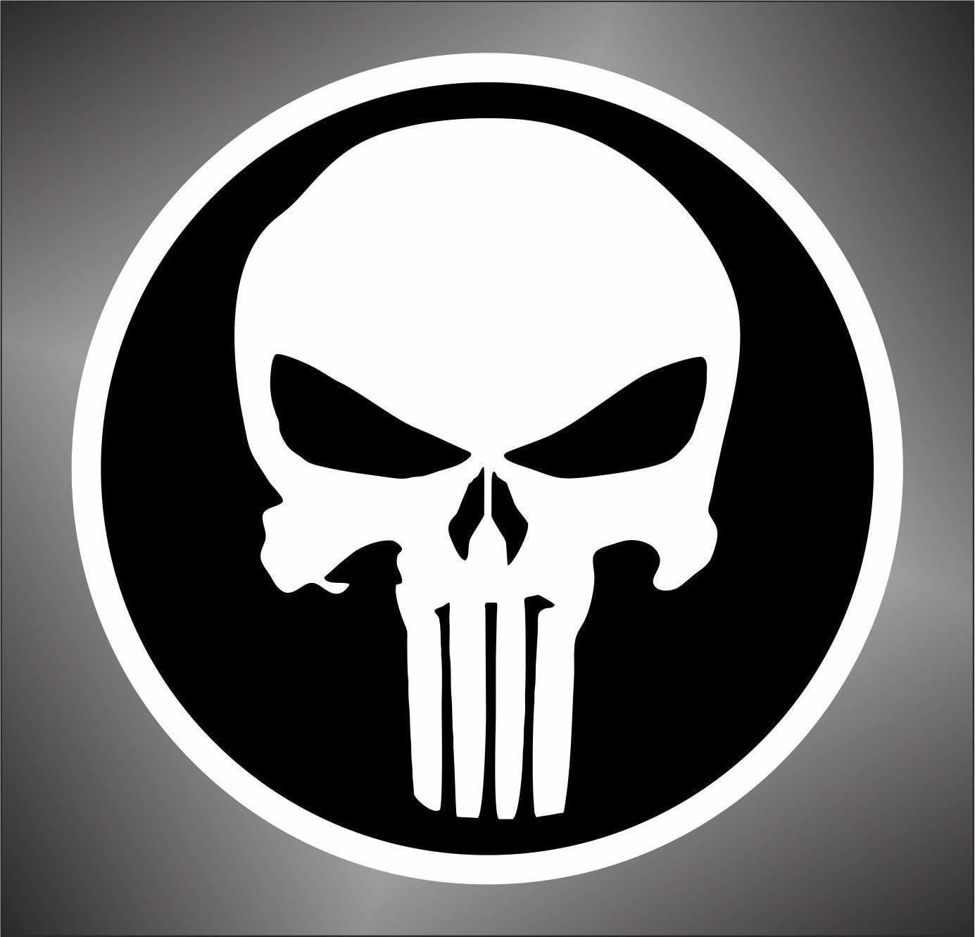 Graphic-lab Stickers Autocollants The Punisher Skull PSP Xbox Autocollants 15 cm
