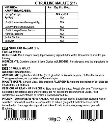 Kết quả hình ảnh cho bulkpowder citruline nutrition facts