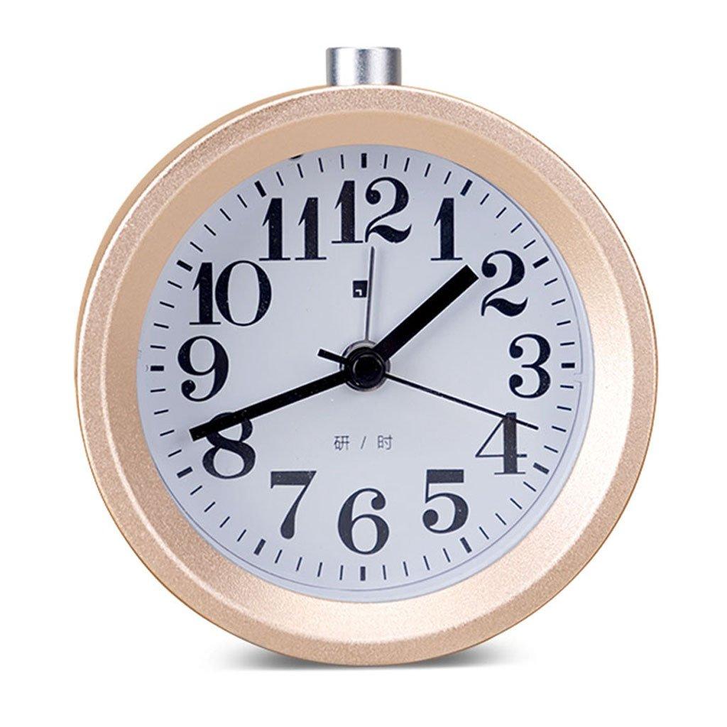 実際の木の学生の創造的な目覚まし時計のミュートの子供の時計と時計パーソナリティ光る電子寝室 (Color : Rose gold) B07CTDH9T5 Rose gold Rose gold