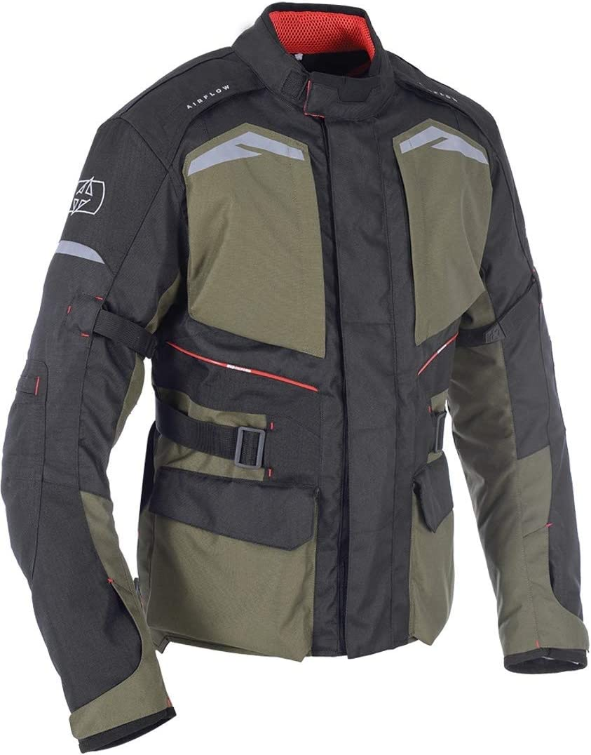 Army Green XL Oxford Quebec 1.0 Mens Textile Waterproof Motorcycle Jacket