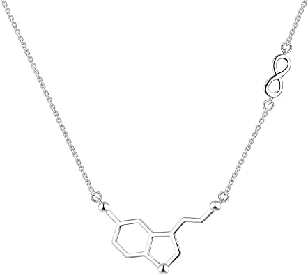 925 Sterling Silver Dopamine Pendant Necklace