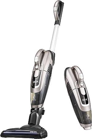 Aspiradora, aspirador sin cable, batería Aspiradora 2 en 1 (sin bolsa, erset zbarer batería de litio, motor sin escobillas, cepillo eléctrico Incluye Accesorios), champán: Amazon.es: Hogar