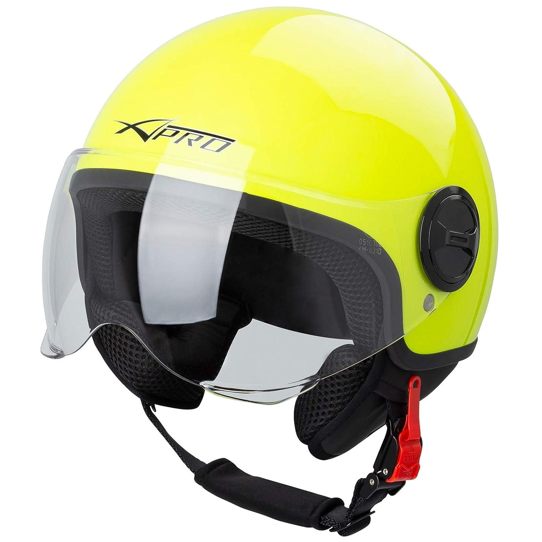 Motorradhelm Motorrad Roller Jet Helm Demi Avio Viser Homologiert SonicMoto Matt Schwarz XS