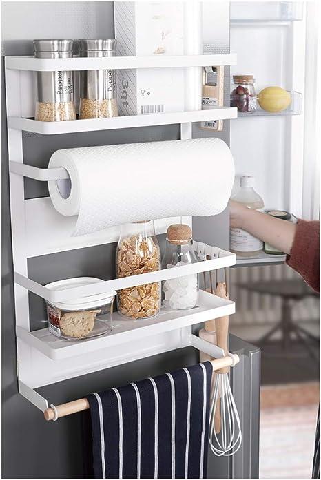 Kitchen Rack Fridge Magnetic Organizer Design Paper Towel Holder Rustproof Spice