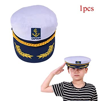b18564008d0 Waterstone Sailor Ship Boat Captain Hat Navy Marins Admiral Adjustable Cap  White