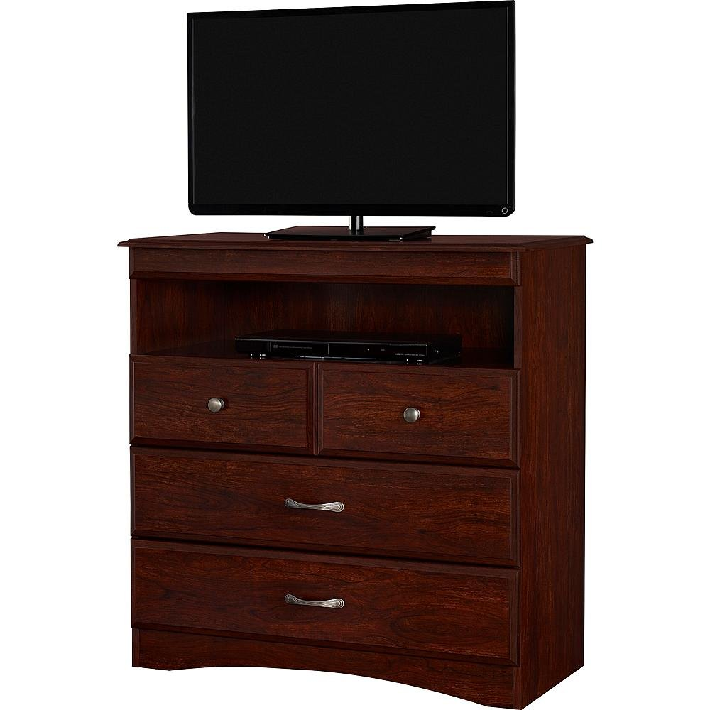 Essential Home Grayson Highboy TV Stand - Cherry