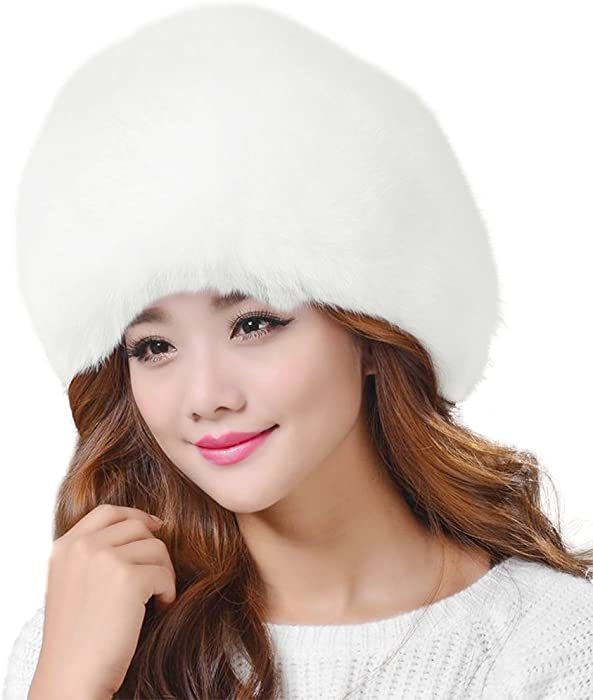 ... Lovful Winter Women Faux Fur Russian Cossack Style Hat Winter Wrap Hat  ... 35c1880211b0