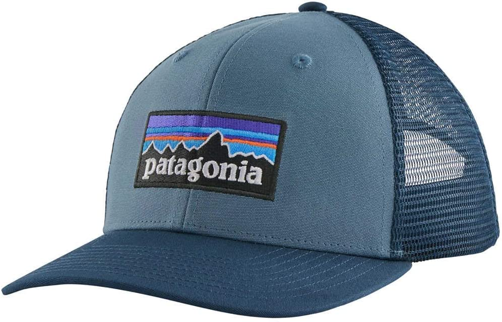 Talla /Única Patagonia P-6 Logo Trucker Hat Gorra Unisex Adulto Pigeon Blue