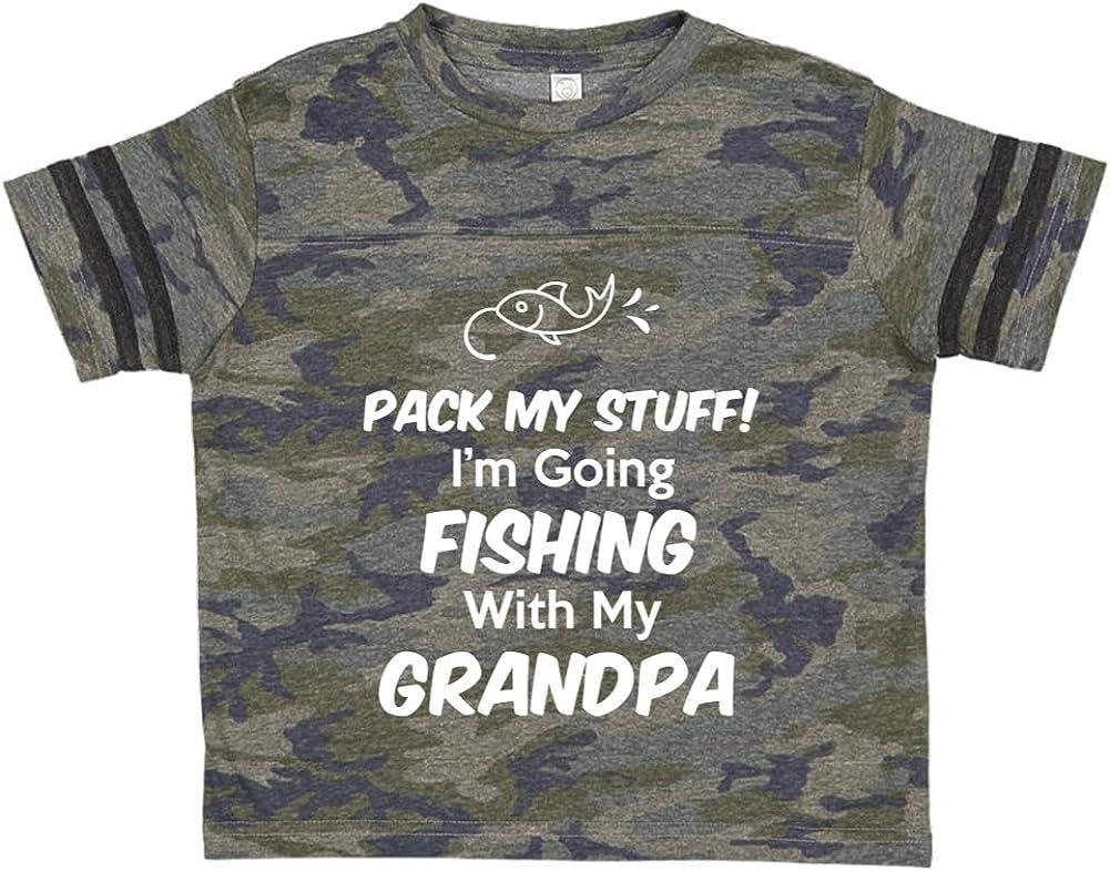 Toddler//Kids Sporty T-Shirt Pack My Stuff Im Going Fishing with My Grandpa