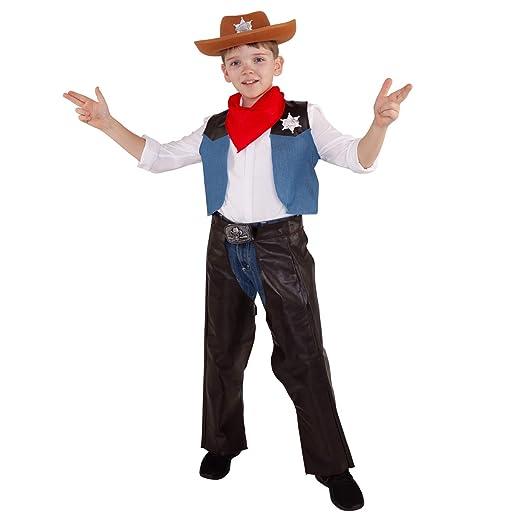 Morph Disfraz de Vaquero para niños Traje de Sheriff del Oeste Salvaje para  niños Rodeo Occidental para niños y niñas - Pequeño - (3 - 6 años)   Amazon.es  ... 51df3a2354c