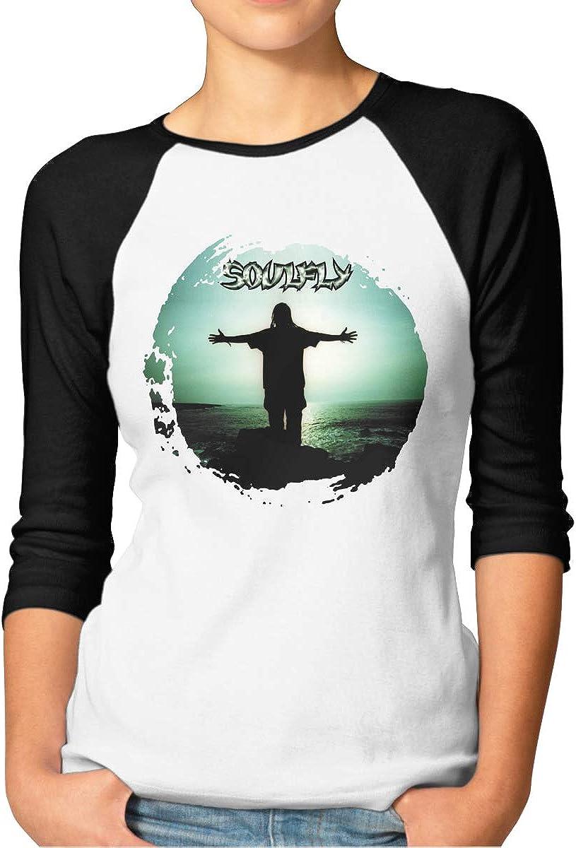 Kangtians Womens Soulfly Shirt 3//4 Sleeve Raglan Baseball Tee