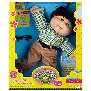 Cabbage Patch Kids Doll - Preppy Boy - Black Hair - Asian
