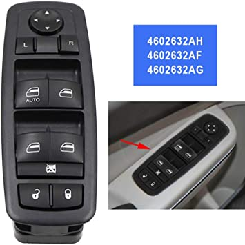 Driver Side Master Power Window Switch 2012 Dodge Journey 2009 2010 2009 4602632AG Replaces Part# 4602632AH 2010 2011 Fits Dodge Nitro /& Jeep Liberty 2008 4602632AF