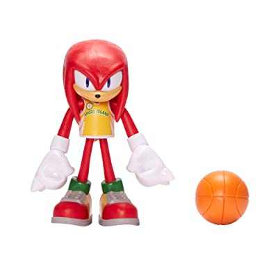 "Sonic The Hedgehog 4"" Basketball Knuckles Action Figure: Toys & Games"