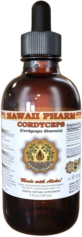 Cordyceps Extract Tincture 4 Oz 120 Ml by HawaiiPharm