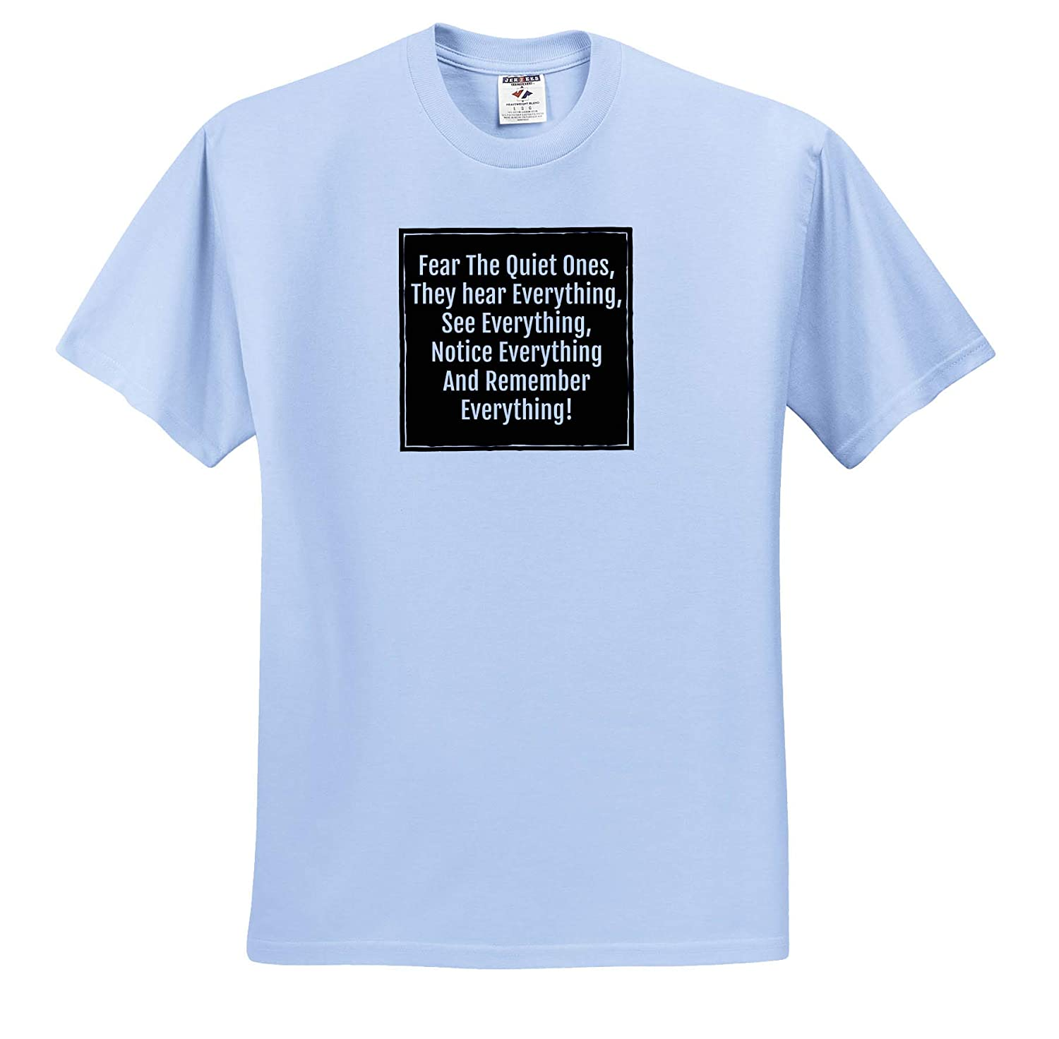 Image of Fear The Quiet Ones They Hear See Notice and Remember ts/_314156 3dRose Carrie Merchant Quote Adult T-Shirt XL