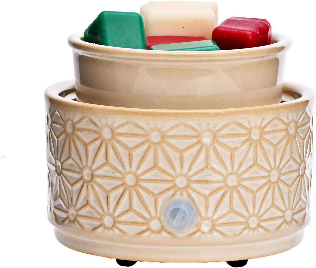 ASAWASA Ceramic Electric Wax Melt Warmer,Candle Waxing Warmer,Use Melts Cubes Essential Oils and Fragrance Oils,Gifts for Aromatherapy Spa Home 4.02