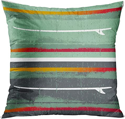 TOMKEYS Throw Pillow Cover Surfboard