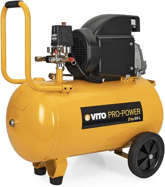 Kompressor Werkstattkompressor 50 L 230 V Vito Power Öl 2 Ps 8 Bar 1500 W Baumarkt