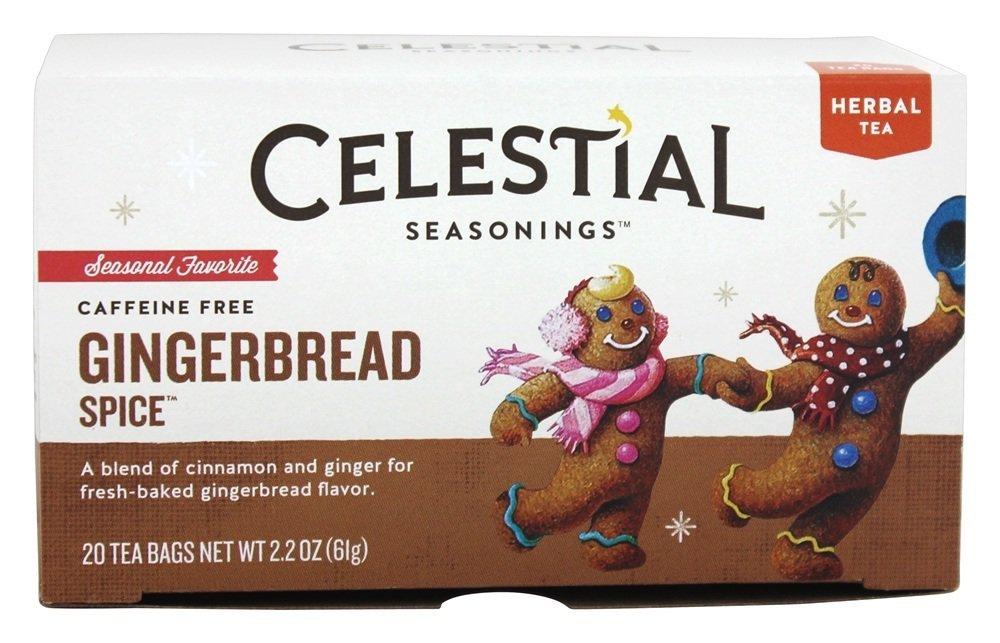 Gingerbread Spice Holiday Herb Tea - 20 bags,(Celestial Seasonings)