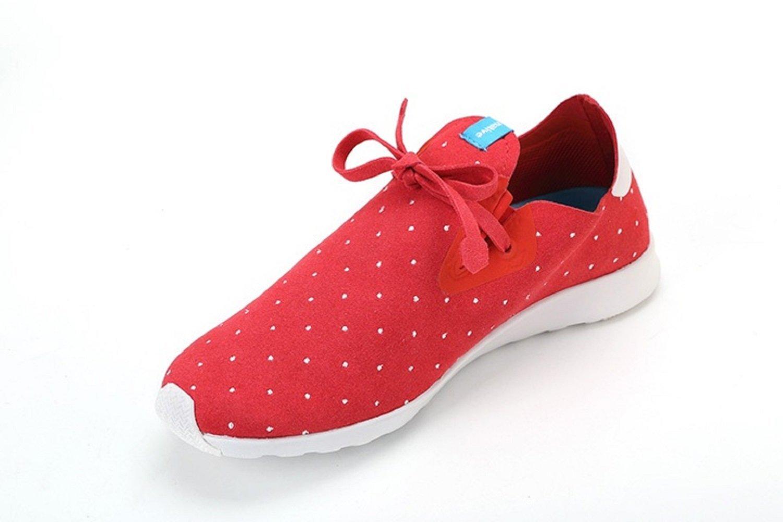 Native Unisex Apollo Moc Fashion Sneaker. B011PLN4UA 11 B(M) US Women / 9 D(M) US Men|Torch Red/Shell White/Polka Dot
