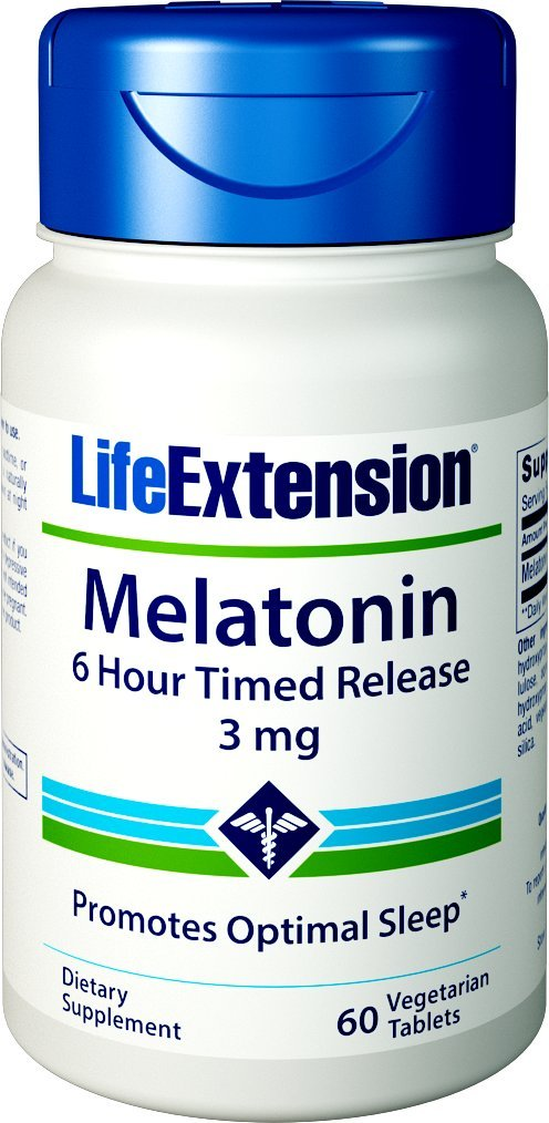 Amazon.com: Life Extension Melatonin 6 Hour Timed Release 750 mcg ...