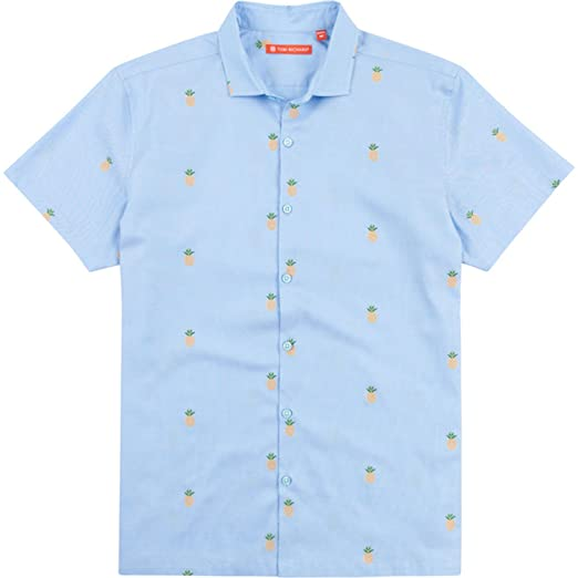 5e0c9fe3 Image Unavailable. Image not available for. Color: Tori Richard Dole N Row  Camp Shirt - Blue