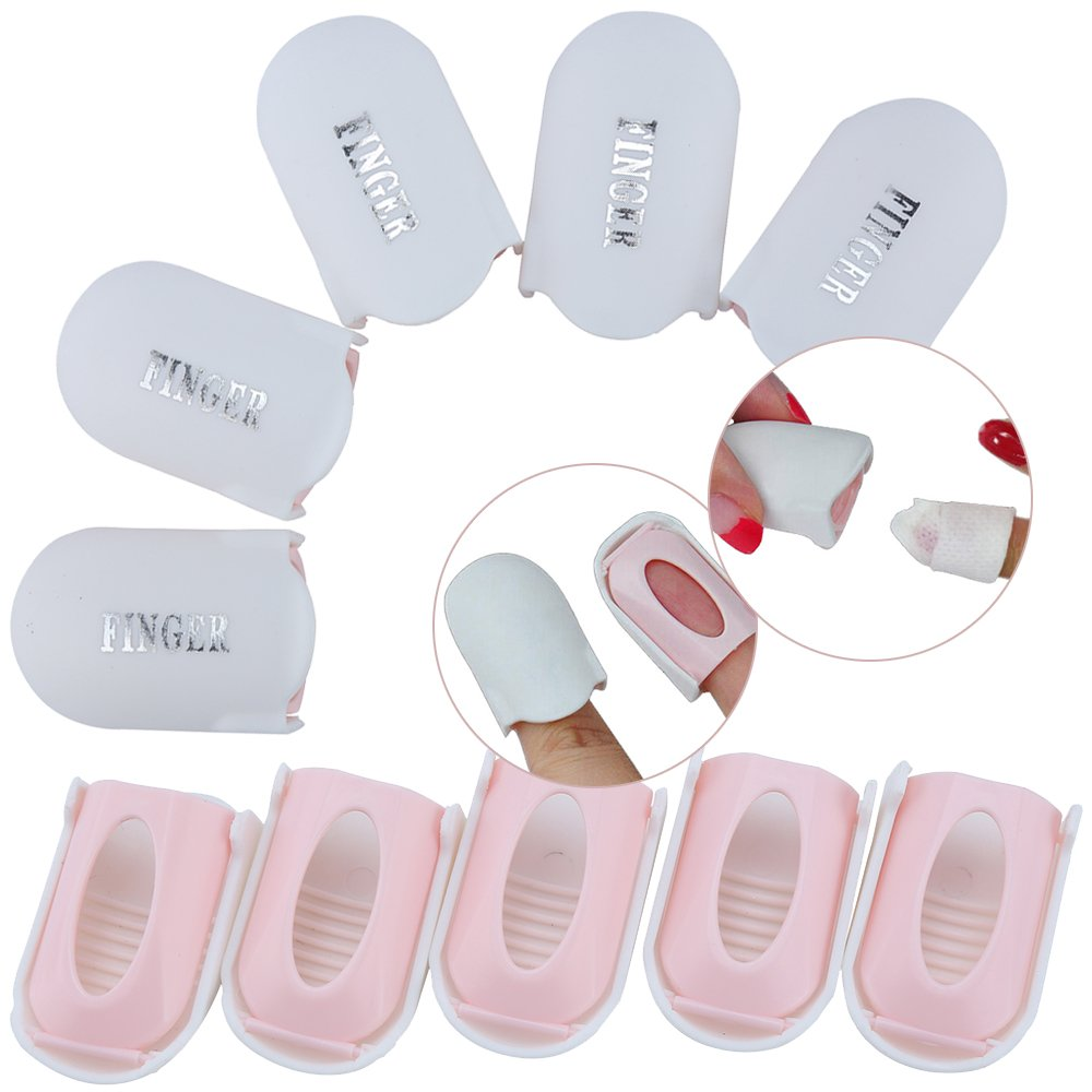 Nail Art Manicure Tools Set / Kit / Lot of 10pcs Acrylic Nails / Tips Soak Off Clips On Caps / Soakers / UV Gel Polish Removers Soaking Wraps VAGA