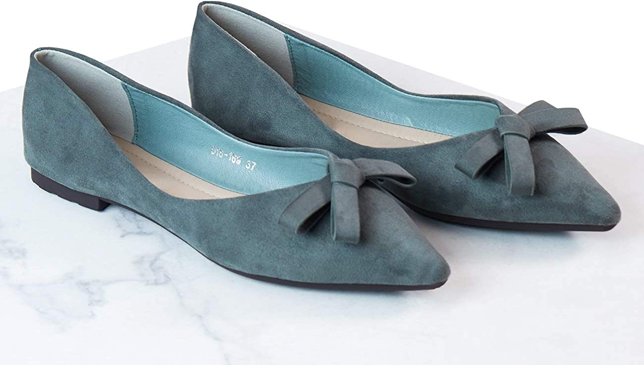 C.PARAVANO Women/'s Foldable Flat Ballet Pointed Toe Pumps Bowknot Slip On Shoes