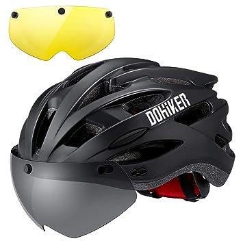 Dohiker Casco de Ciclismo para Bicicleta con Visera extraíble y ...