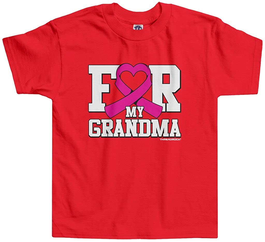 Threadrock Little Girls for My Grandma Breast Cancer Toddler T-Shirt