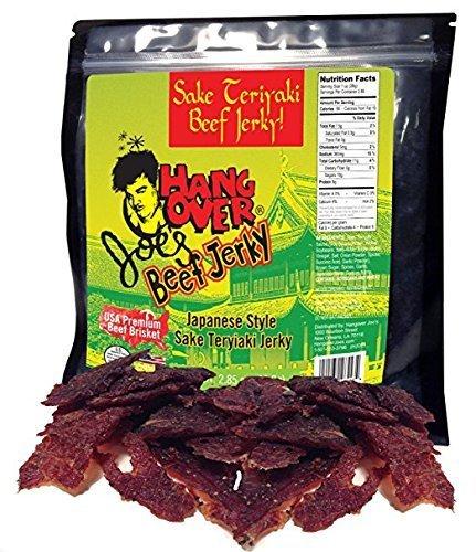 Sake Premium Japanese (Sake Teriyaki Infused Craft Beef Jerky - Made with Premium USA Beef Brisket, 2.85oz bag)
