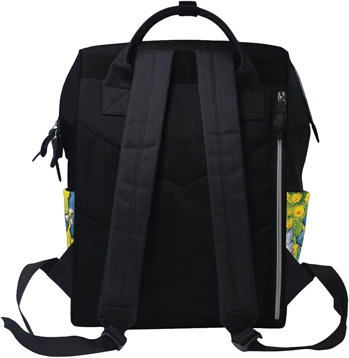 imobaby Amazing Iris Art Changing Bags Large Capacity Handbags Canvas Shoulder Bag Backpack