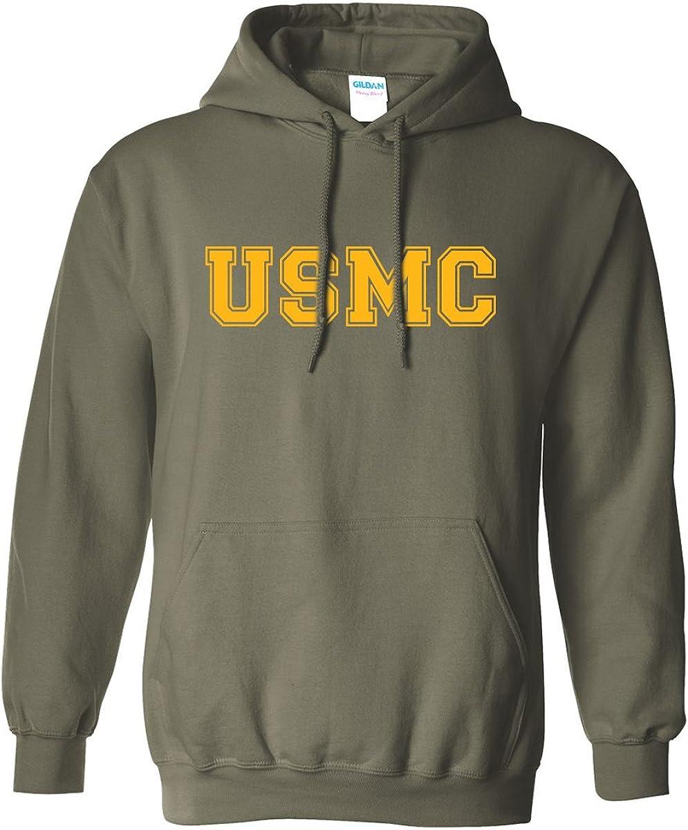 zerogravitee USMC Athletic Gold Adult Hooded Sweatshirt