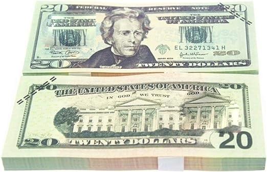 10PCS / SET divertido lámina de oro de América del billete de dólar el dinero falso manualidades arte muy Suministros colección de arte del arte: Amazon.es: Hogar